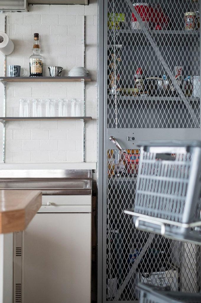 糸島キャビンのリノベーションしたキッチン