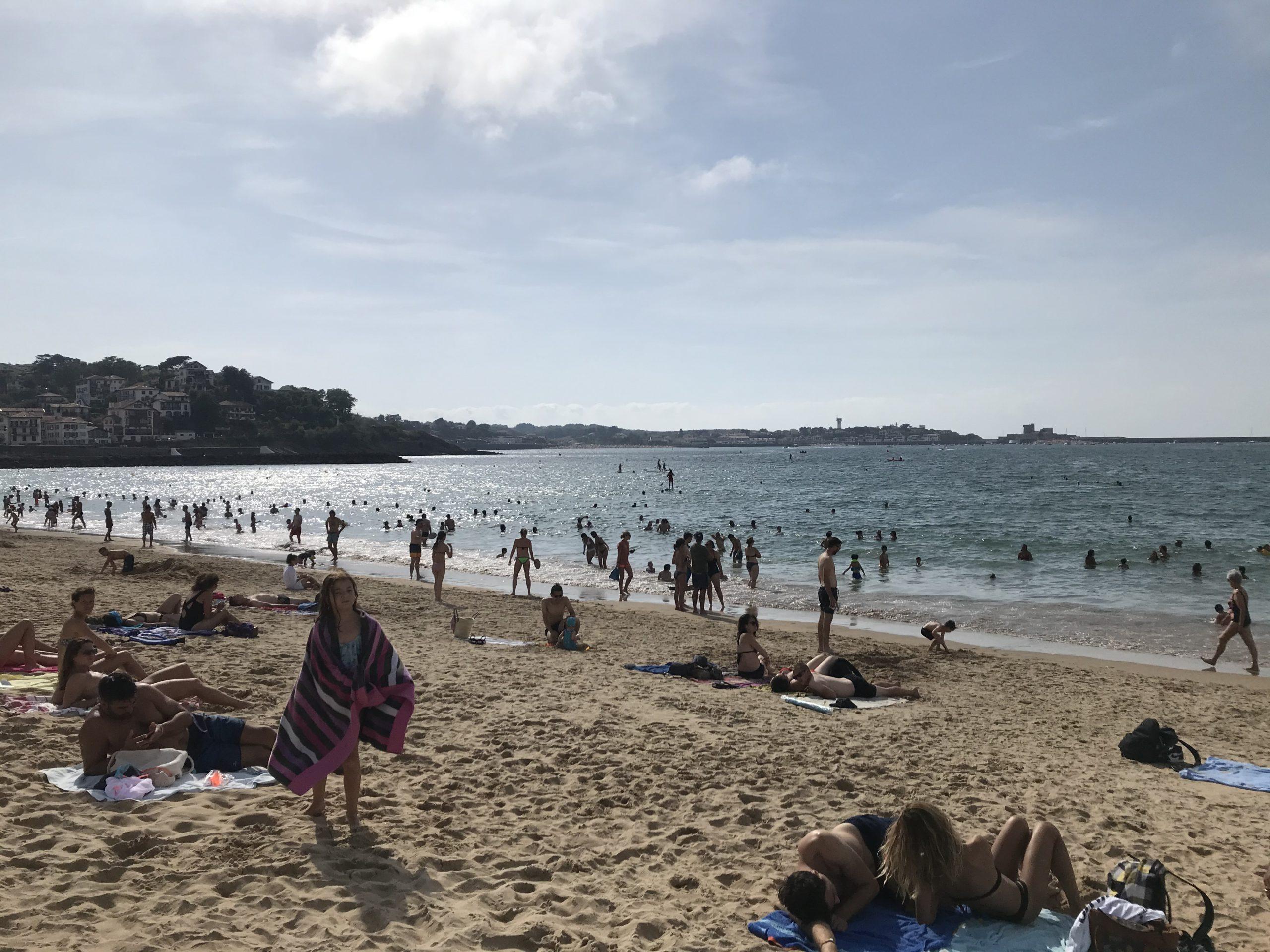 サン・ジャン・ド・リュズのビーチ