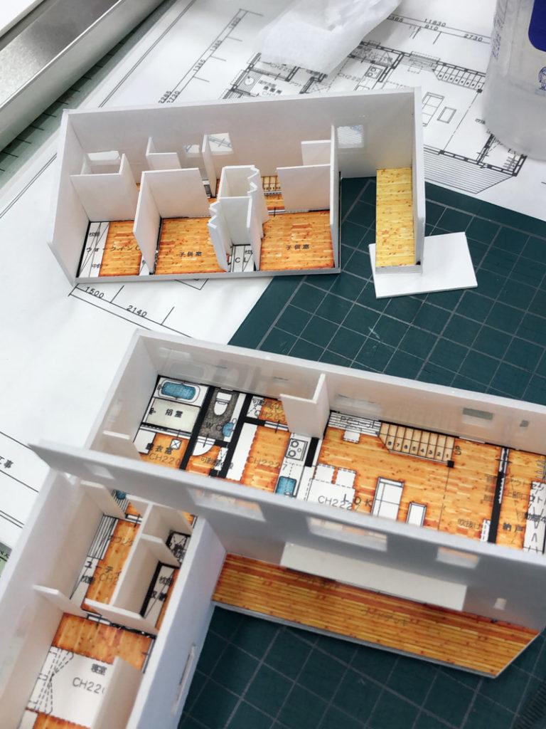 間取りがわかりやすい住宅模型