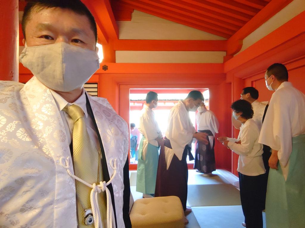 厳島神社にて玉串奉献