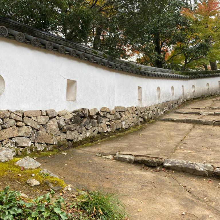備中松山城の塀