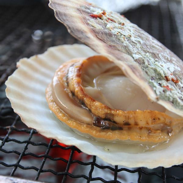 ホタテの貝焼き