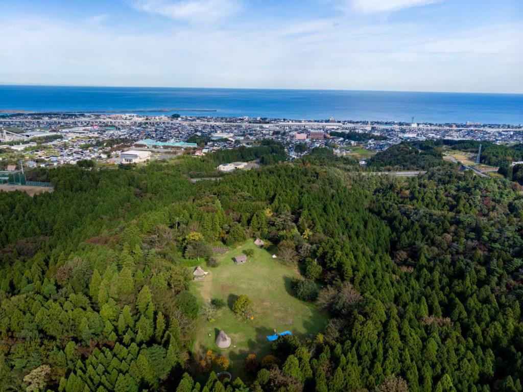 空から見た糸魚川市