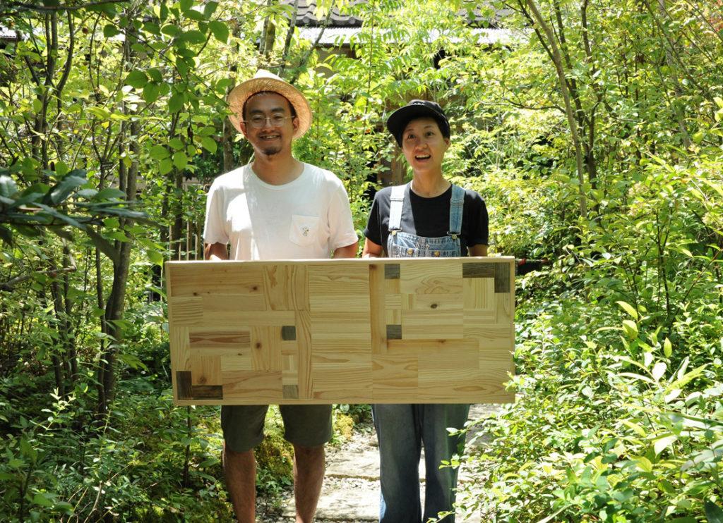 庭と木工作品