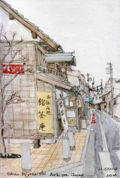 旧美濃路の町並み