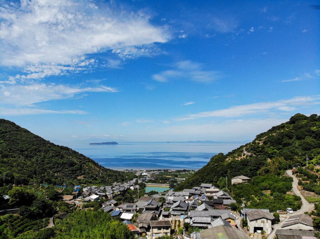 仁尾町から見た瀬戸内海