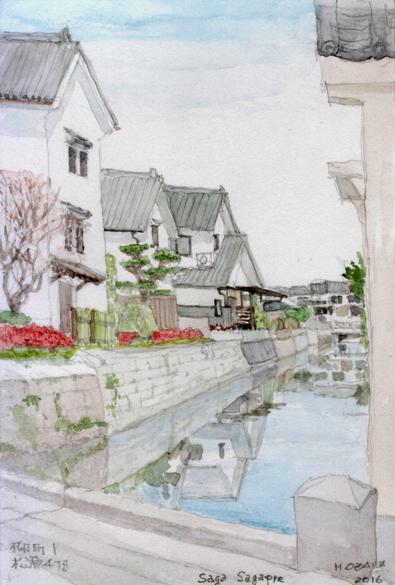 松原境の城下の運河