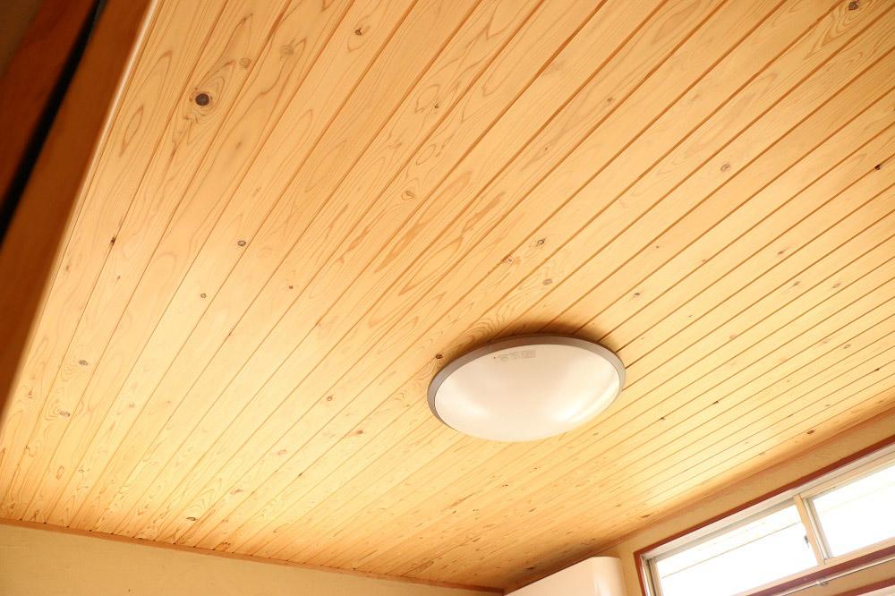 無垢木の天井