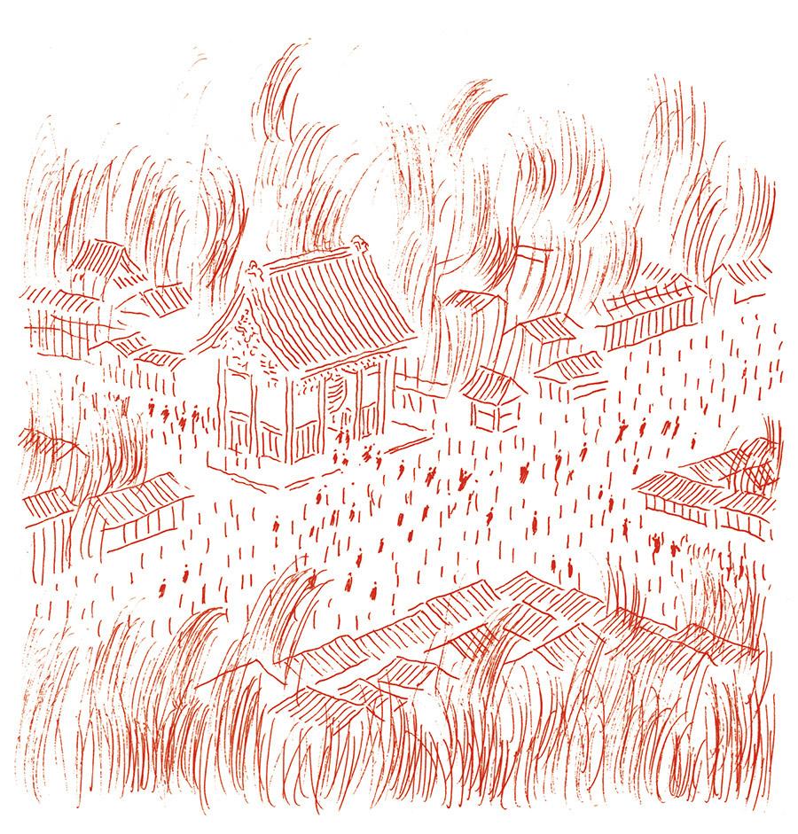 燃え盛る浅草のまち