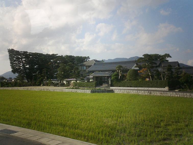 築地松と屋敷