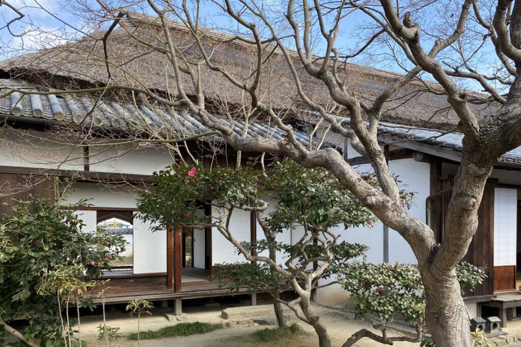 旧足守藩侍屋敷の杉原家居宅の外観