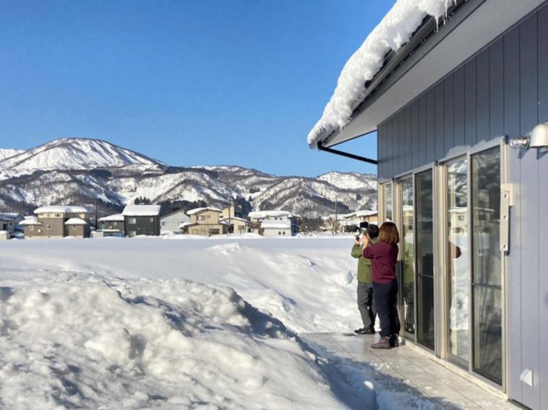 家の前は一面の雪景色
