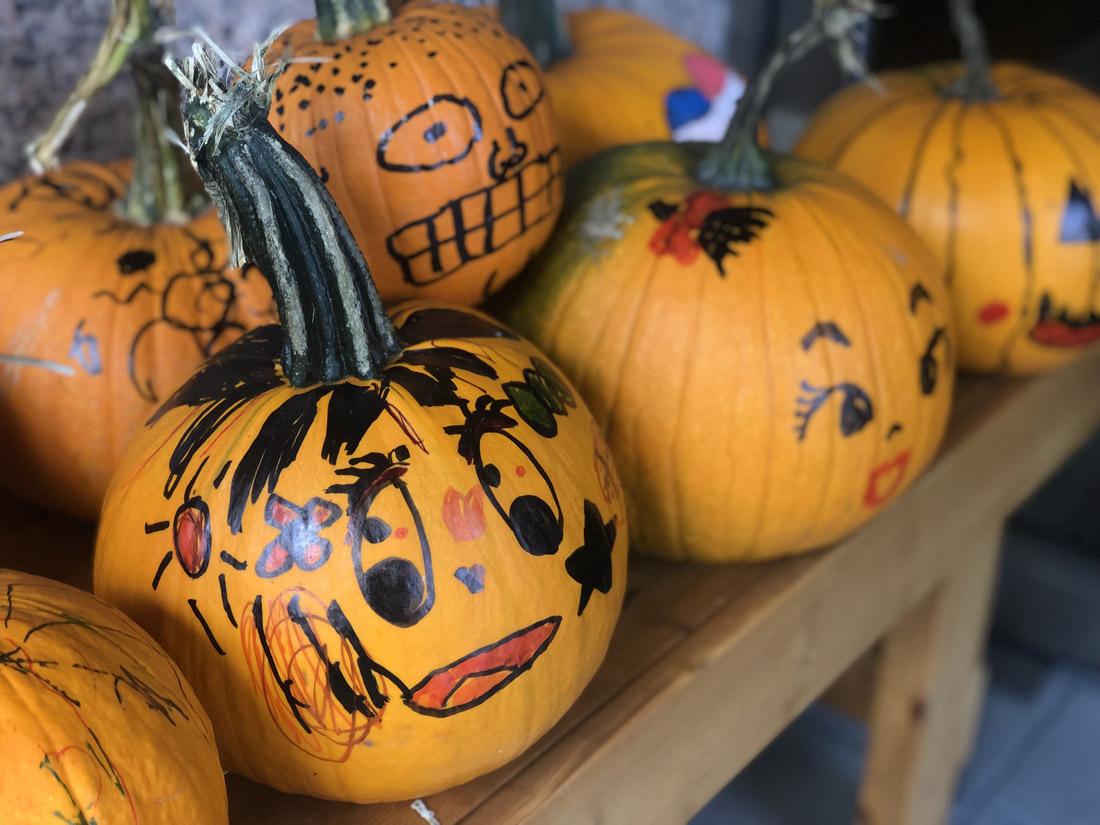 似顔絵かぼちゃ